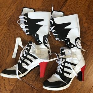 Harley Quinn costume boots